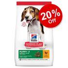 18kg Hill's Science Plan Puppy <1 Medium with Chicken - 20% Off!*