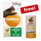 10kg IAMS for Vitality Dry Cat Food + IAMS Naturally Cat Treats Free!*