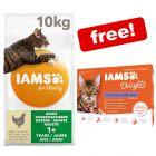 10kg IAMS for Vitality Dry Cat Food + 12 x 85g IAMS Pouches Free!*