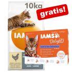 10 kg IAMS for Vitality + 12 x 85 g IAMS Delights Adult in Gelatina gratis!