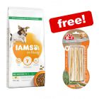 12kg IAMS Vitality Dry Dog Food + 3 x 75g 8in1 Delights Chews Sticks Free!*