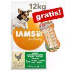 12kg IAMS Vitality Tørrfôr +  8in1 Delights gratis!*