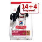 14 + 4 kg ingyen! 18 kg Hill's Science Plan kutyatáp