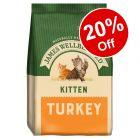 1.5kg James Wellbeloved Kitten Dry Cat Food - 20% Off!*