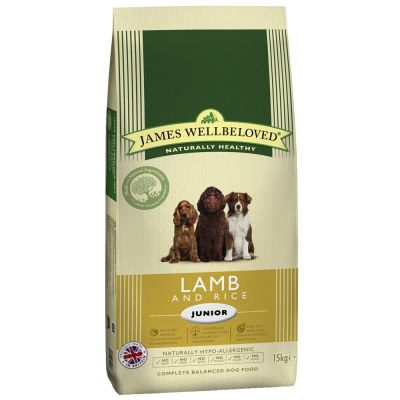 15 kg James Wellbeloved + 10 x 150 g våtfoder till superpris!