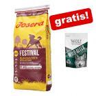 15 kg Josera hrane za pse + Wolf of Wilderness Snack besplatno!