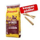 15 kg Josera + 3 kpl purutankoja (n. 25 cm) kaupan päälle!
