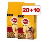 20 + 10 kg kaupan päälle! 30 kg Pedigree-koiranruoka