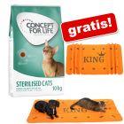 9 kg/10 kg Concept for Life hrană uscată pisici + KING Păturică Orange L 140 cm x 70 cm gratis!!