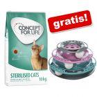 9 kg/10 kg Concept for Life hrană uscată pisici + Trixie Turn de jucărie gratis!!