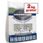 12 kg + 2 kg gratis! Greenwoods Naturton-Klumpstreu
