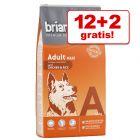 12 kg + 2 kg gratis! 14 kg Briantos Trockenfutter