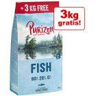 12 kg + 3 kg gratis! 15 kg Purizon hrană uscată fără cereale câini