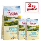 12 kg + 2 kg gratis! 14 kg Purizon Puppy