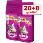 20 kg + 8 kg gratis! 28 kg Whiskas Katzenfutter