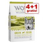 4 kg + 1 kg gratis! 5 kg Wolf of Wilderness Hondenvoer