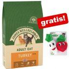 8 kg / 10 kg James Wellbeloved + Catnip Veggies kattleksaker på köpet!