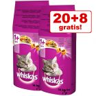 20 kg + 8 kg offerts ! 28 kg Croquettes Whiskas