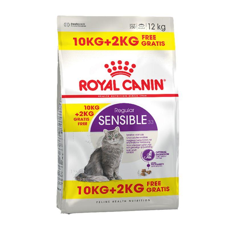 10 kg + 2 kg på köpet! 12 kg Royal Canin Feline