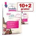 10 kg + 2 kg på köpet! 12 kg Sanabelle torrfoder för katt