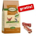10 kg Lukulllus + Lukullus kości do gryzienia, z kaczką, 2 x 10 cm gratis!