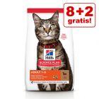 8 + 2 kg offerts ! 10 kg Croquettes Hill's Science Plan pour chat