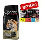 8 kg Optimanova Adult + 10 x 5 g Tigeria Sticks Mix gratis!