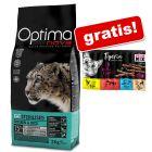 8 kg Optimanova + 10 x 5 g Tigeria Sticks assortito gratis!
