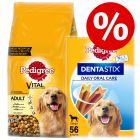 15kg Pedigree Dry Dog Food + 56 x Pedigree Daily Oral Care - Bundle Price!*