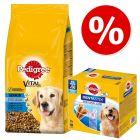 13 kg Pedigree Vital Protection Senior 8+  + 56 ks Dentastix (L) snack za skvělou cenu!