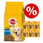 15 kg Pedigree-koiranruoka + 7 x 70 g Ranchos Original -koiranherkut erikoishintaan!