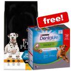 14kg Pro Plan Dry Dog Food + 18 Sticks Purina Dentalife Large Free!*