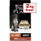 10kg Pro Plan NutriProtein Dry Dog Food - 8kg + 2kg Free!*