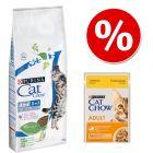 15 kg Purina Cat Chow Special Care + 26 x 85 g nedvestáp 20% kedvezménnyel!