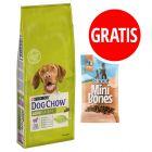 14 kg Purina Dog Chow + Barkoo Mini Bones półwilgotne, 200 g gratis!