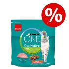 1,4 kg Purina ONE Dual Nature Sterilized -kissanruoka erikoishintaan!