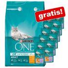 3 kg Purina ONE torrfoder + 12 x 85 g Sensitive våtfoder på köpet!