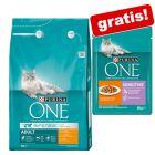 3 kg Purina ONE Trockenfutter + 12 x 85 g Sensitive Nassfutter gratis!