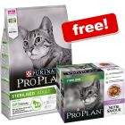 10kg Purina Pro Plan Dry Cat Food + 10 x 85g Nutrisavour Sterilised Free!*