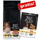 14 kg Purina Pro Plan + 400 g snack Biscuits Light gratis!