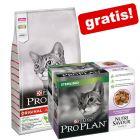 10 kg Purina PRO PLAN kattefoder + 10 x 85 g Nutrisavour Sterilised gratis!