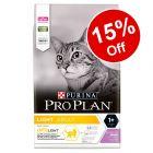 3kg Purina Pro Plan Light Optilight Rich in Turkey Dry Cat Food - 15% Off!*
