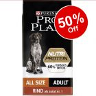 10kg Purina Pro Plan NutriProtein Dry Dog Food - 50% Off!*