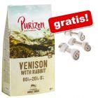 12 kg Purizon + Barkoo žvečilne kosti zavozlane s sezamom gratis!
