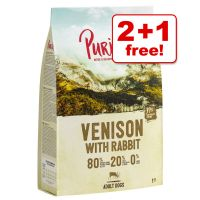 1kg Purizon New Recipe Grain-Free 80:20:0 Dry Dog Food - 2 + 1 Free!*