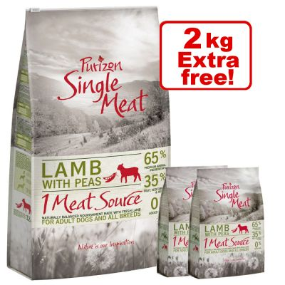 12kg Purizon Single Meat Dry Dog Food + 2kg Extra Free!*