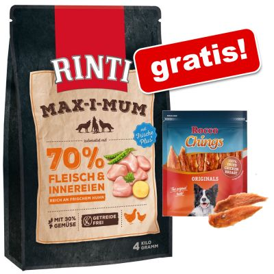 12 kg Rinti Max-i-mum + Rocco Chings Originals mięsne paski do żucia gratis!
