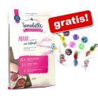 10 kg Sanabelle + set 12 jucării mingiuțe și șoricei gratis!