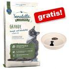 2 kg Sanabelle + Trixie Bol ceramic cu imprimeu cu pisică, 250 ml, gratis!