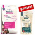 2 kg Sanabelle Trockenfutter + 55 g Ente & Granatapfel Cat-Stick gratis!